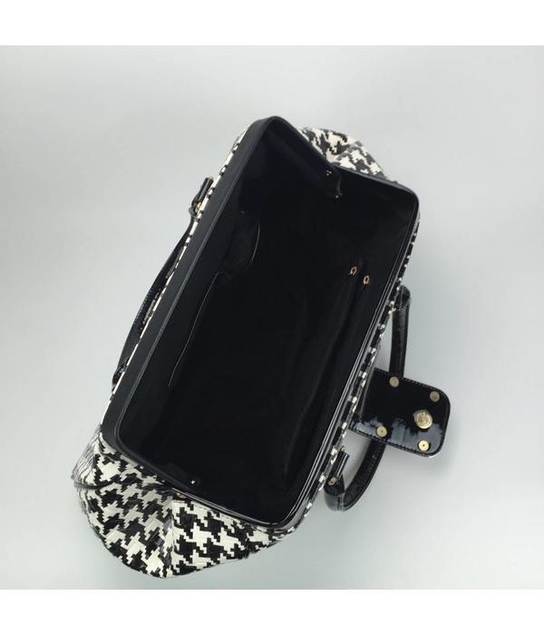 Tientje of minder Exclusieve zwart/witte handtas