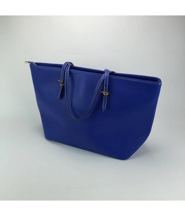Tientje of minder Blauwe handtas