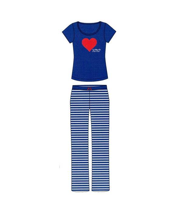 Tientje of minder Blauwe Pyjama's (M/L/XL)
