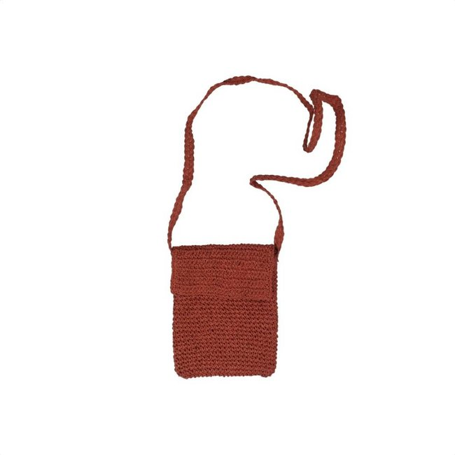 Tientjes Handgemaakte oranje schoudertasje