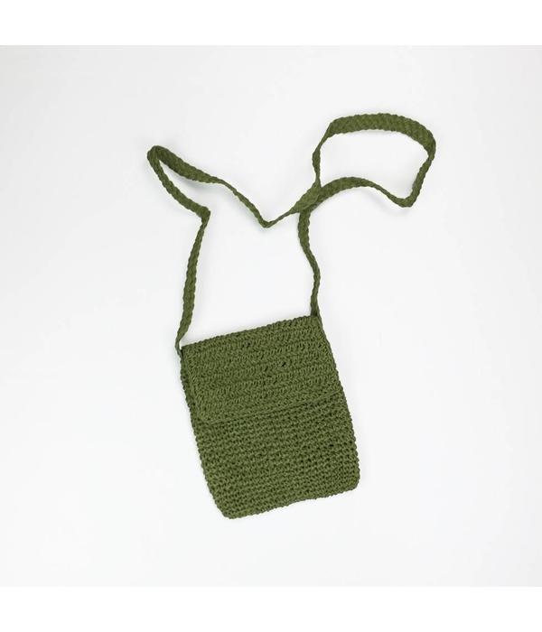 Tientje of minder Handgemaakte groen schoudertasje