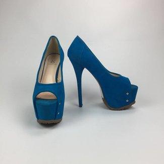 Valentino Giaro Hoge blauwe pumps (38)