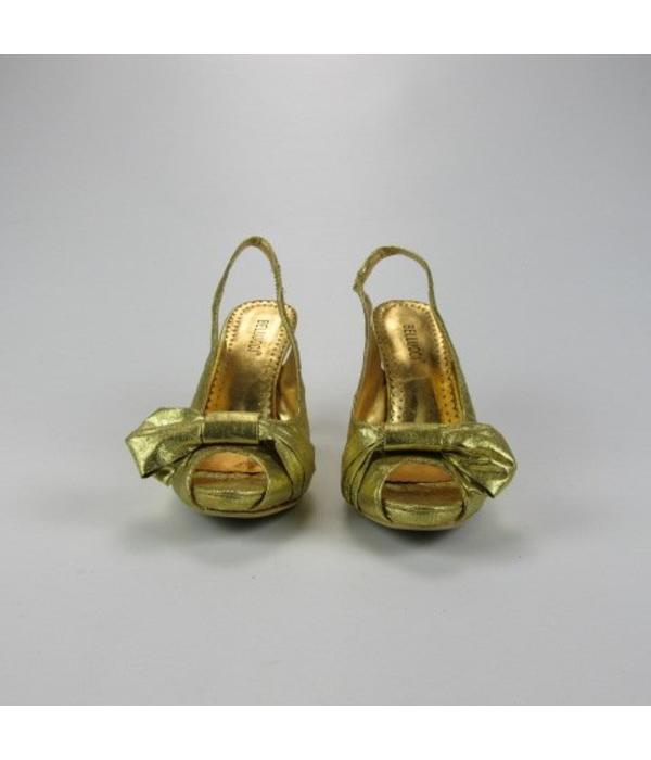 Tientje of minder Goudkleurige pumps (36/39)