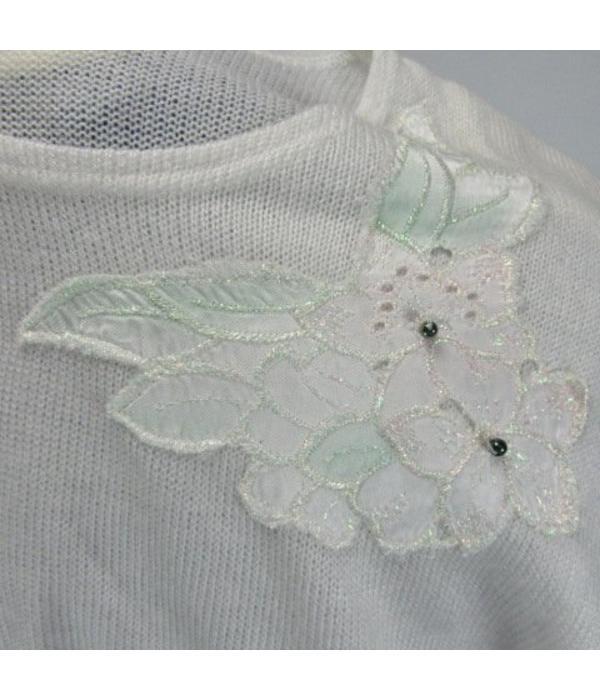 Tientje of minder Witte trui (L)