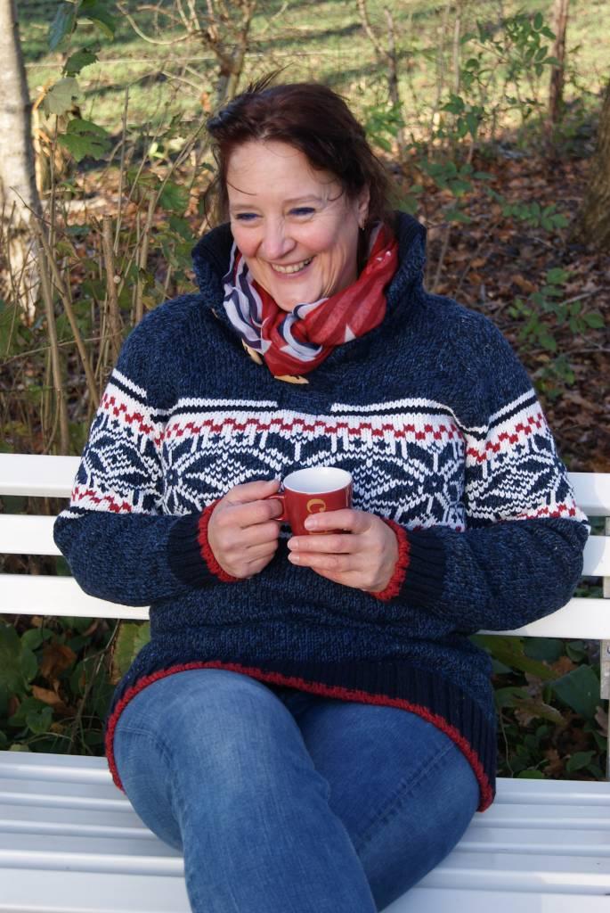 "Portugesewol Norwegian sweater ""Salvada"" blue"