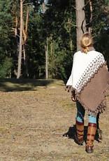 """Portugesewol Norwegian poncho """"Sesimbra"""""""