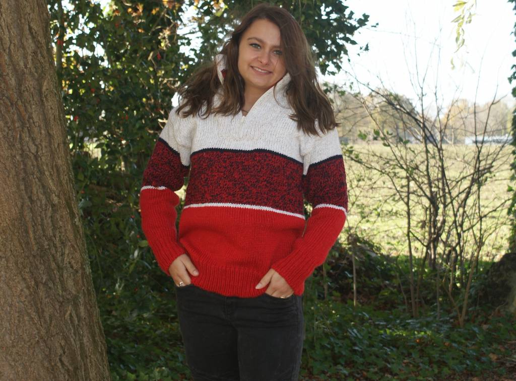 """Cavez"" Wollpullover in 3 Farben rot"