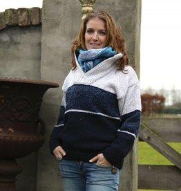 """Portugesewol """"Vagos"""" gestrickter Wollpullover mit Reißverschluss"""