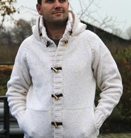 "Portugesewol Cardigan with hood ""Viseu"""