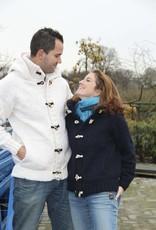 Portugesewol Strickjacke mit Kapuze  Weiß
