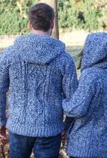 """Portugesewol """"Gaula"""" Strickcardigan aus Wolle mit Strickbündchen, Doppelverschluss und Kapuze"""