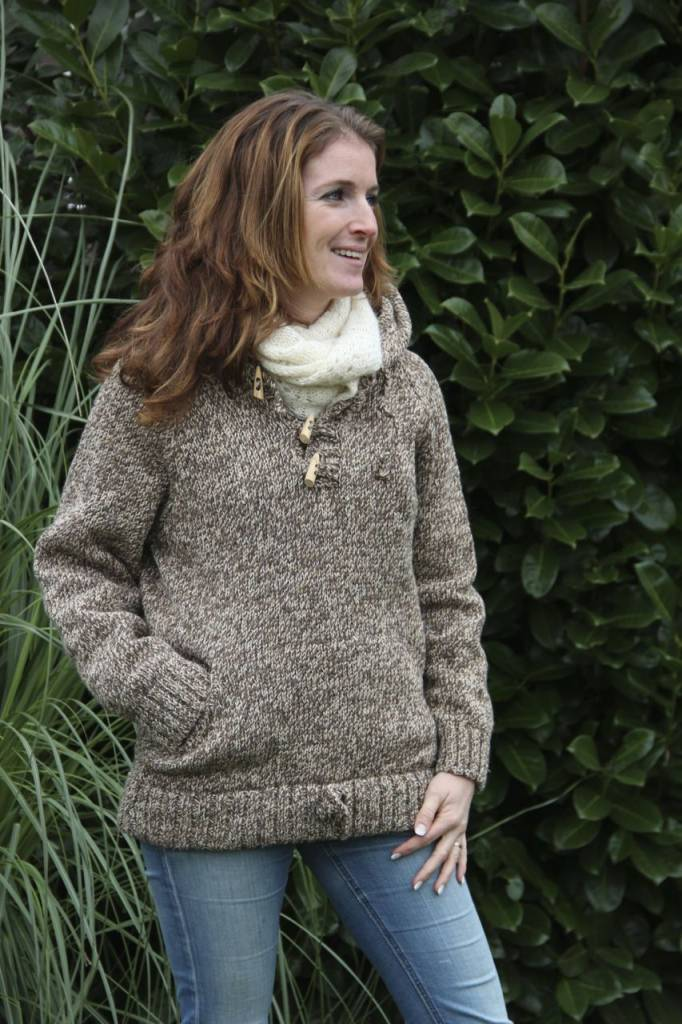 "Portugesewol Knitted sweater ""Santana"" in brown"