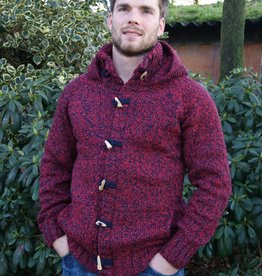 "Portugesewol ""Branca"" knitting wool cardigan in red"