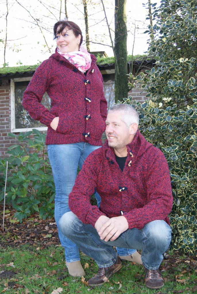 "Portugesewol  ""Branca"" knitting wool cardigan for him and her."