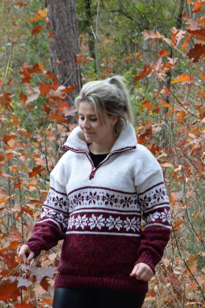 Norweger Pullover 'Loures' Rot