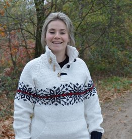 "Portugesewol Norwegian sweater ""Almada"" in white"