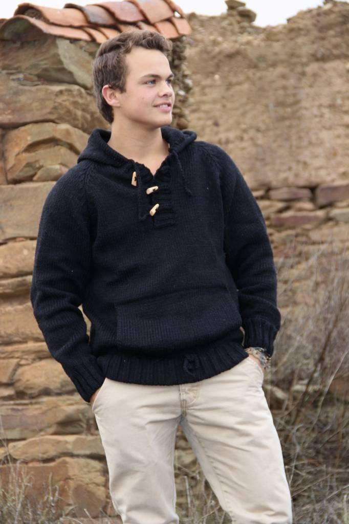 "Portugesewol  Knit sweater ""Setubal"" in black"