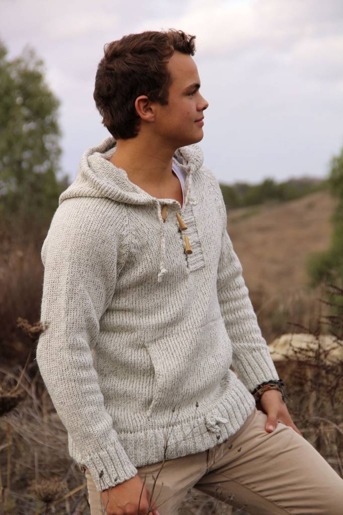 "Portugesewol  ""Sagres"" knit sweater with hood"