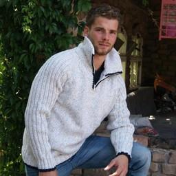 "Portugesewol  Knit sweater ""Mirandela"" with raglan sleeves"