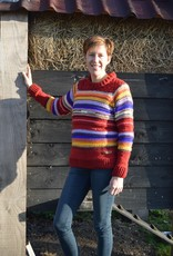 "Original South wool sweater with many colors ""Mina"""