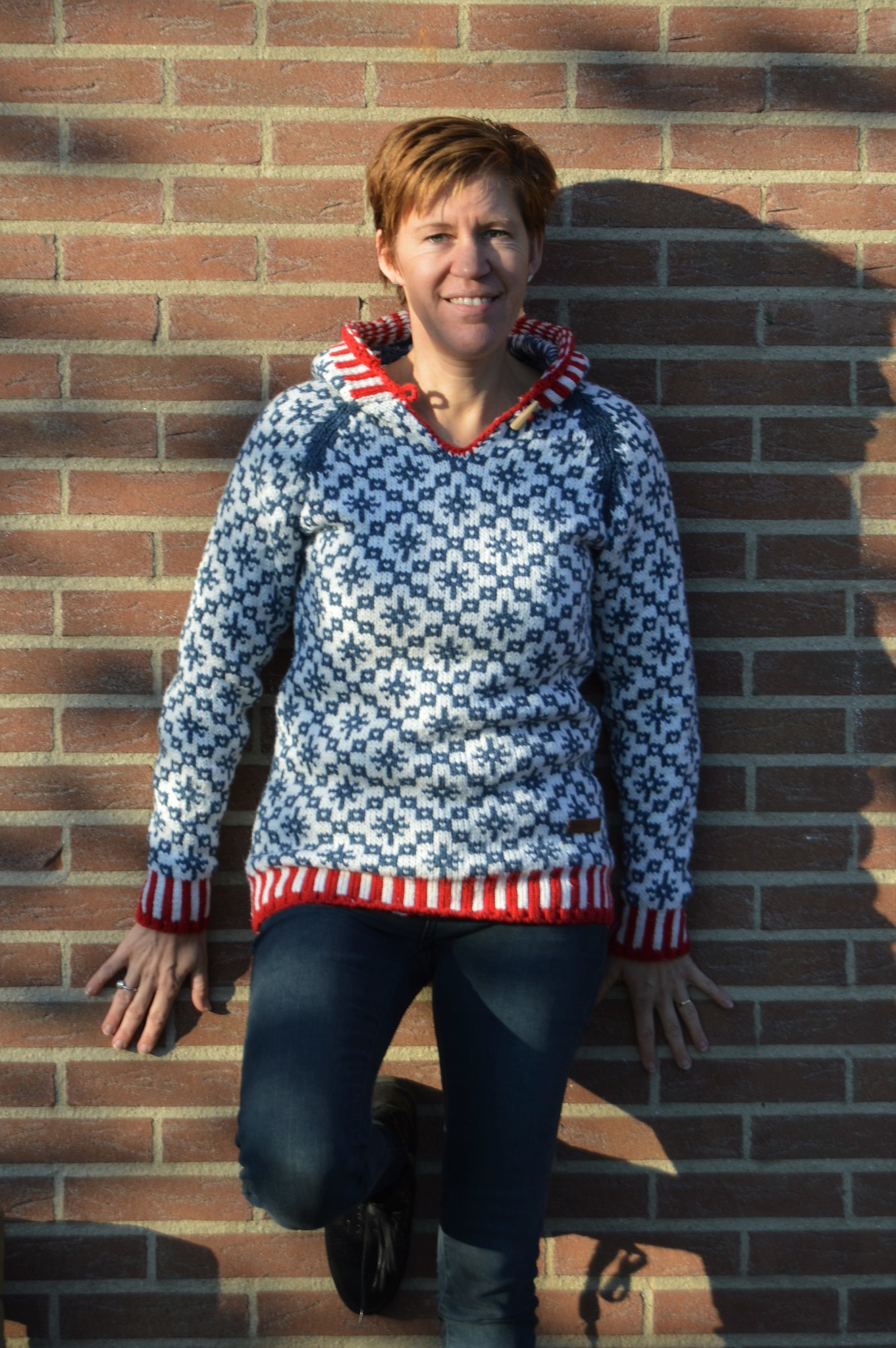"Original South Norwegian sweater with hood ""Codal"""