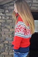 Portugesewol Norwegian pullover 'Cerva' Red