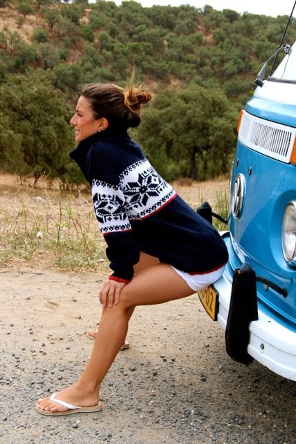 Original South Norwegian Sweater 'Estrelas' Blue