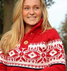 Original South Norwegian Sweater 'Estrelas' Red