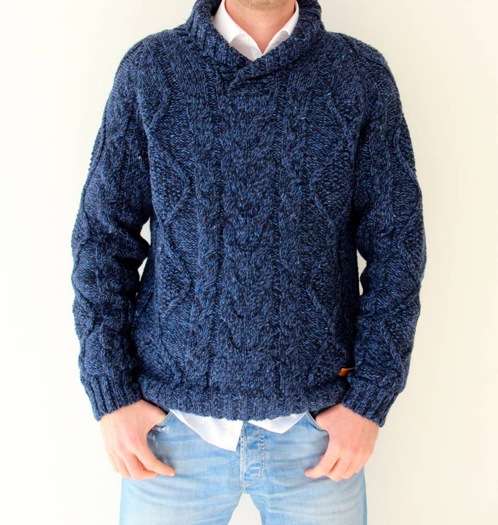 Original South Strickpullover 'Robusto' Blau - Original South
