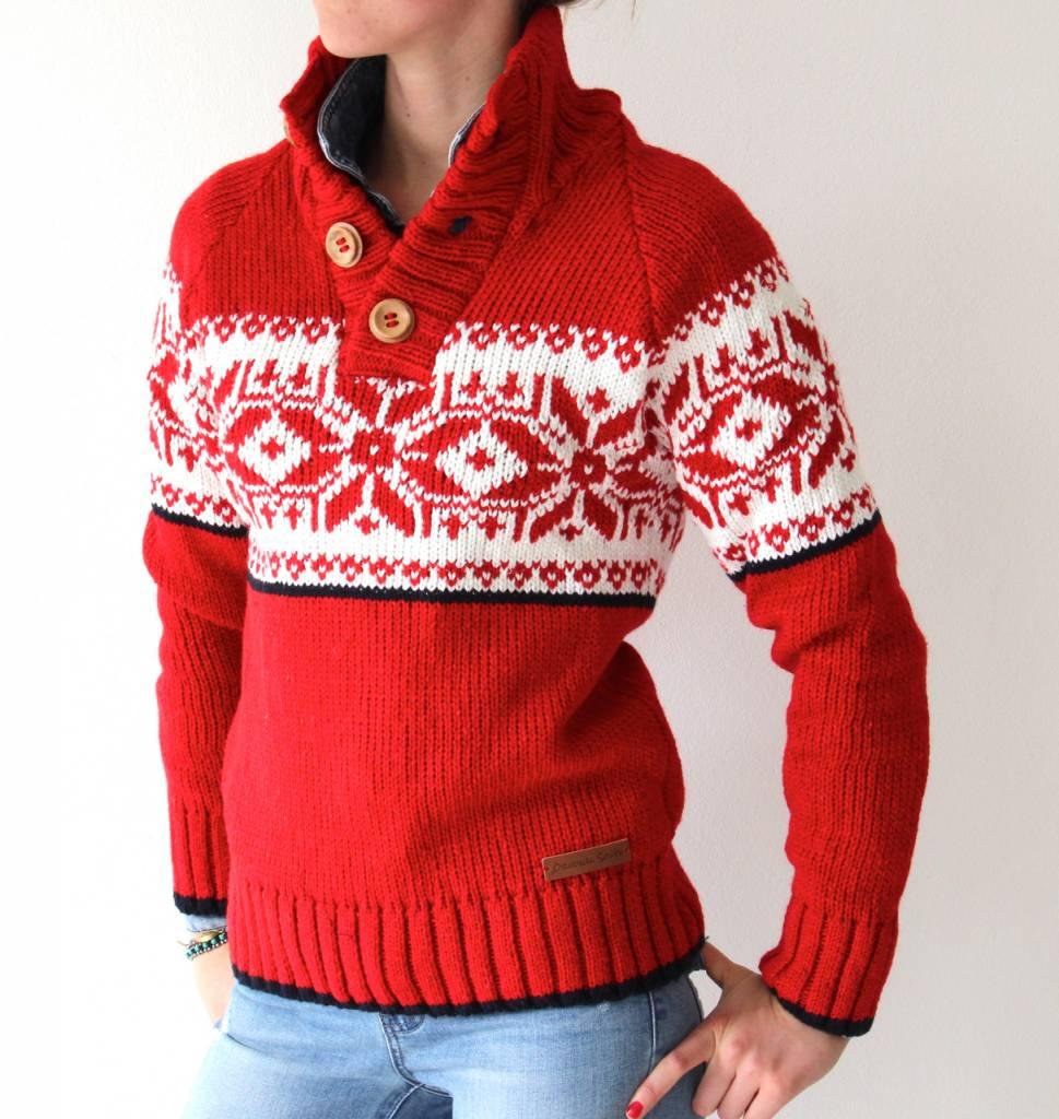 "Original South Norweger pullover ""Estrelas"" Rot"