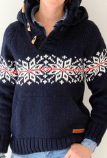 Original South Norweger Kapuzenpulli 'Neve' Blau