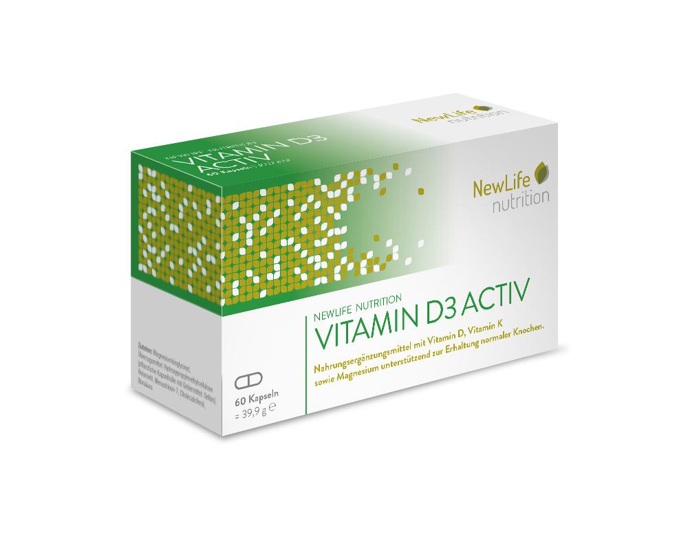 NewLife nutrition VITAMIN D3 ACTIV (60 Kapseln)