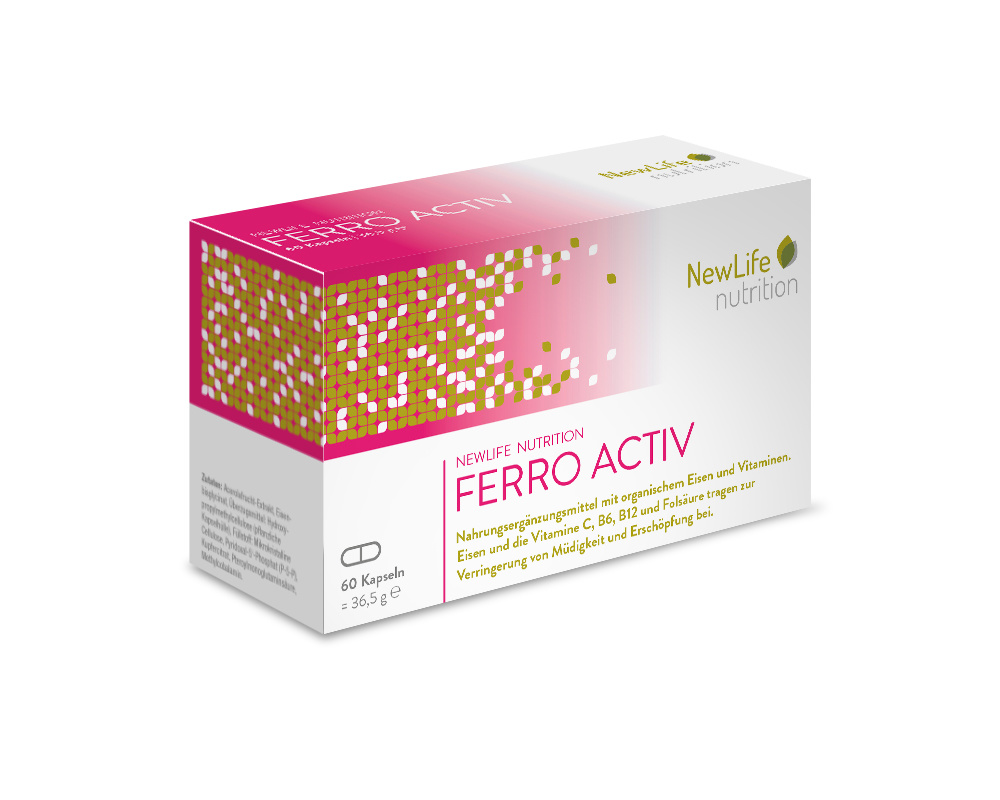 NewLife nutrition FERRO ACTIV (60 Kapseln)
