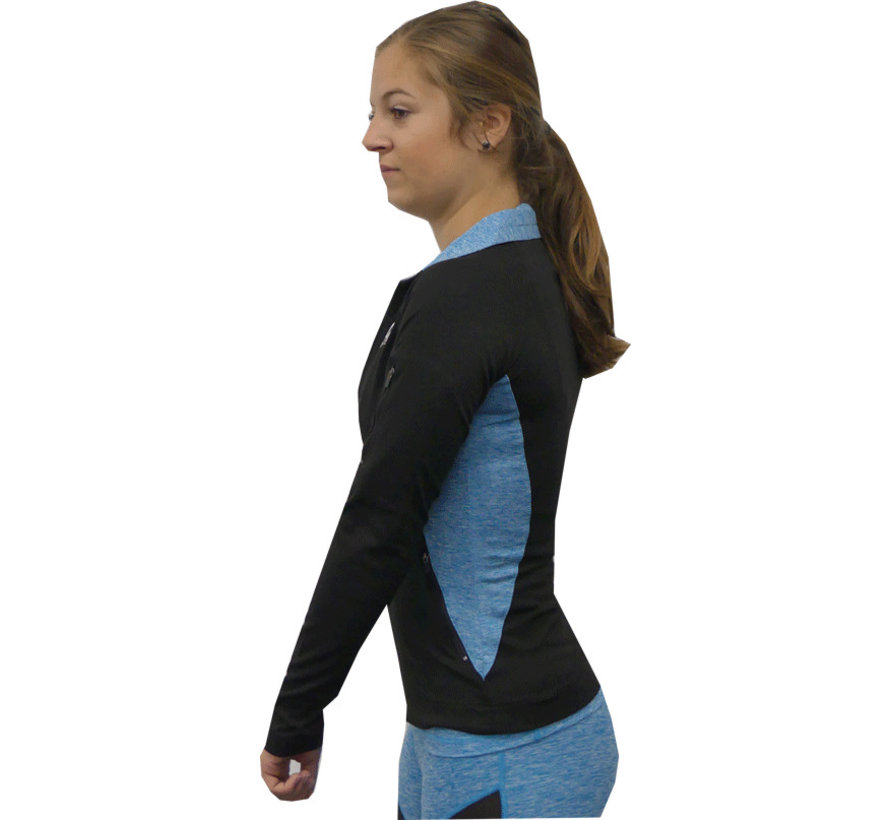 Sportief jacket Turquoise