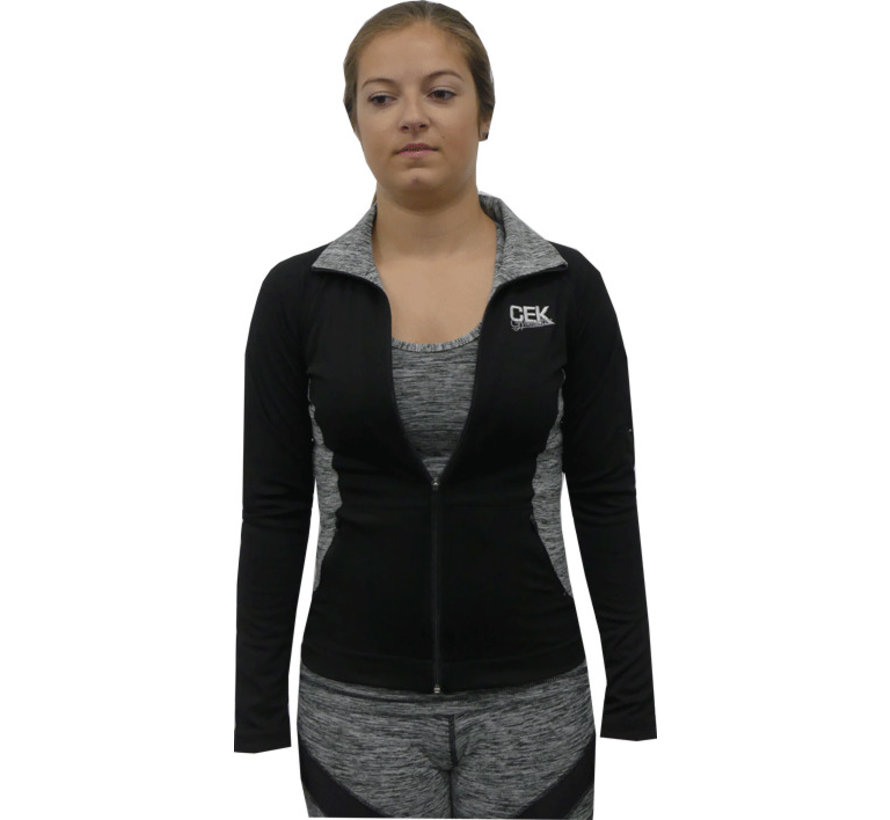 chaqueta deportiva gris