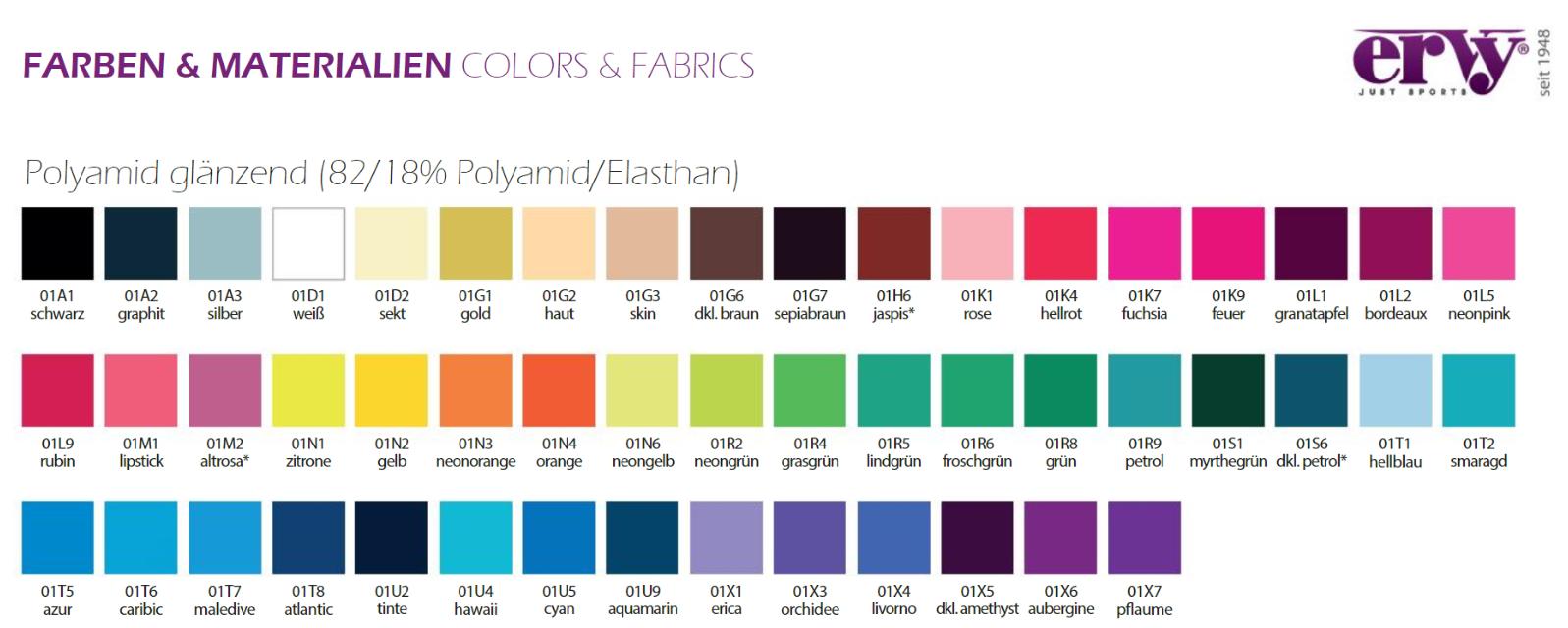 Polyamid Glänzend Farben