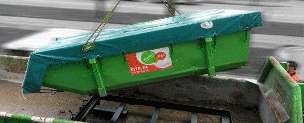 Heavy Duty afdekzeil voor 6 kuubs afvalcontainer