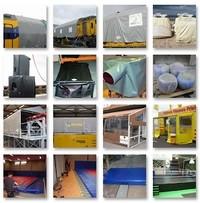 Voorbeelden van maatwerkproducten voor de industrie door Zeilmakerij Stroobach BV