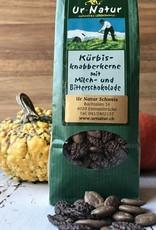 Kürbis-Knabberkerne mit Milch- und Zartbitter Schoggi