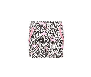 B.Nosy Zebra short - wit flamingo / zebra