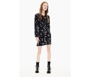 Garcia Meisjes jurk bloemen - Zwart
