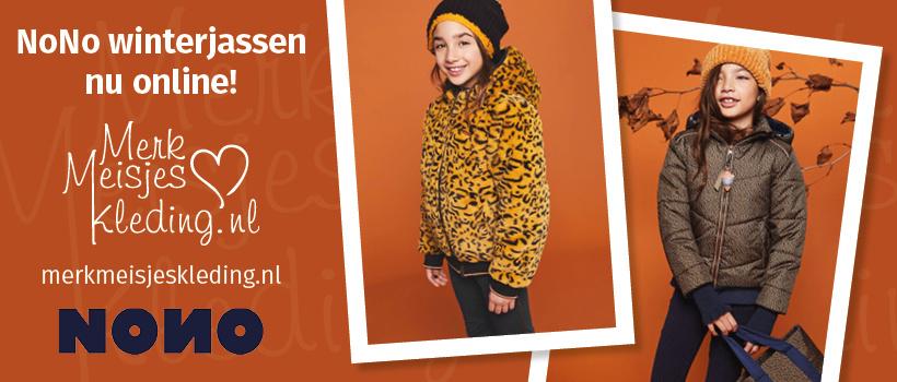 NoNo winterjas kleertjes kinderkleding te koop merkmeisjeskleding.nl jurk legging rok shirt vest trui haarband kniekousen
