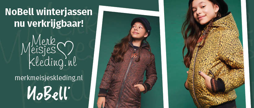 NoBell winterjas kleertjes kinderkleding te koop merkmeisjeskleding.nl jurk legging rok shirt vest trui haarband kniekousen