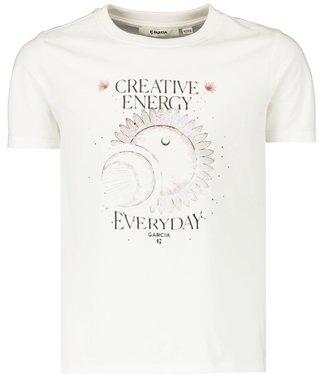 Garcia Meisjes shirt - Off white