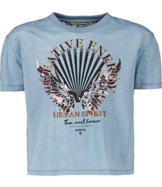 Garcia Meisjes shirt - Vintage blauw