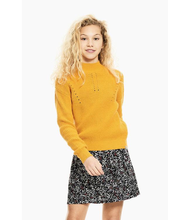 Garcia Meisjes trui gebreid - Golden glow