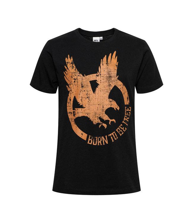 My Own Meisjes shirt - Chloe - Arend zwart