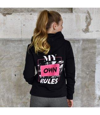 My Own Meisjes hoodie - Alexa - Zwart