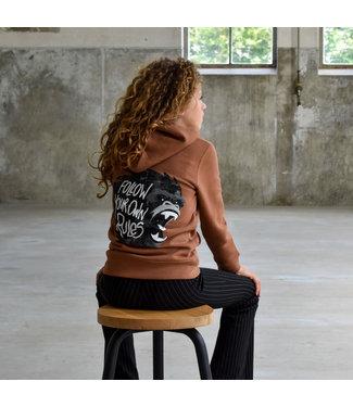 My Own Meisjes hoodie - Xara - Gorilla caramel