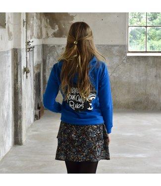 My Own Meisjes hoodie - Xara - Helder blauw